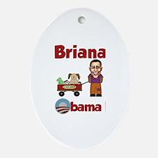 Brianna - an Obama Kid Oval Ornament