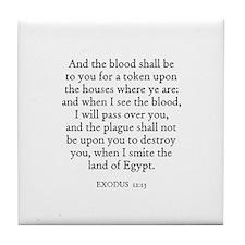 EXODUS  12:13 Tile Coaster