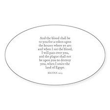 EXODUS 12:13 Oval Decal