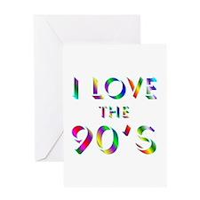 Love 90's Greeting Card