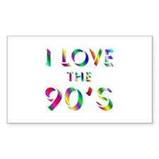 Love 90's Rectangle Decal