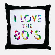 Love 80's Throw Pillow