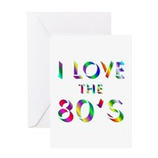 Love 80's Greeting Card