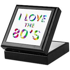 Love 80's Keepsake Box