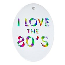 Love 80's Oval Ornament