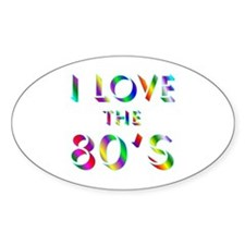 Love 80's Oval Decal