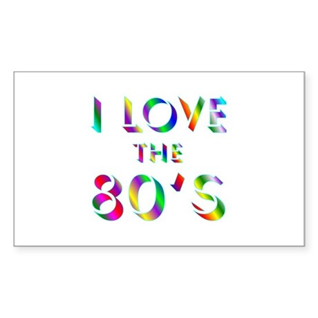 Love 80's Rectangle Sticker