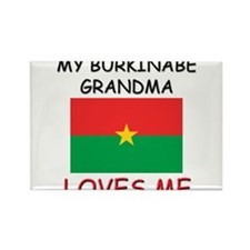 My Burkinabe Grandma Loves Me Rectangle Magnet