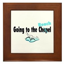 Going To The Chapel (Beach) Framed Tile