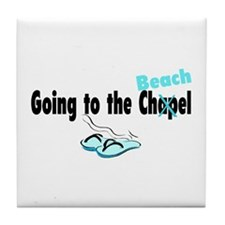 Going To The Chapel (Beach) Tile Coaster