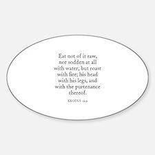 EXODUS 12:9 Oval Decal