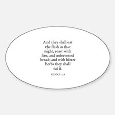 EXODUS 12:8 Oval Decal