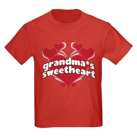 GRANDMA'S SWEETHEART Kids Dark T-Shirt