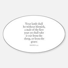 EXODUS 12:5 Oval Decal