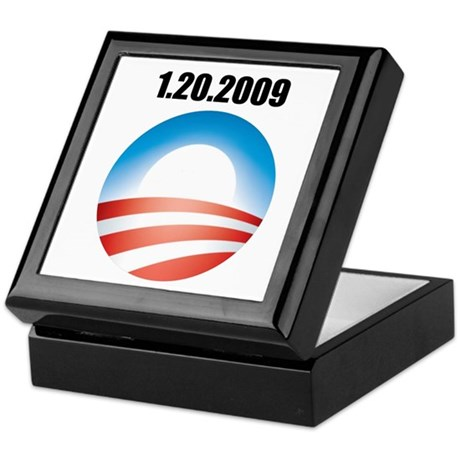 Barack Obama - 1.20.2009 Logo Keepsake Box