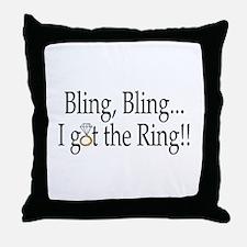 Bling Bling I Got The Ring Throw Pillow