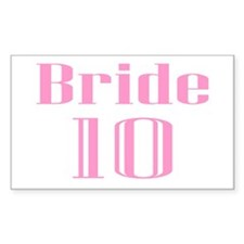 Bride 10 Rectangle Decal