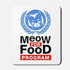 Meow For Food Program Mousepad