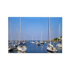 Harbor Boats Rectangle Magnet