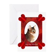 Abysinnian Cat Valentine Card