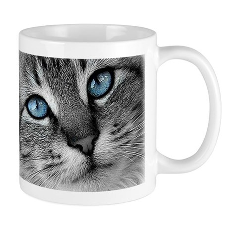 blue eyes cat face Mug