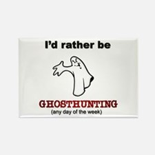 Rather Be Ghosthunting Rectangle Magnet