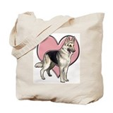 German shepherd heart Canvas Tote Bag