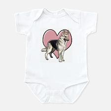GSD heart Infant Bodysuit