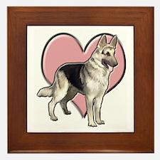 GSD heart Framed Tile