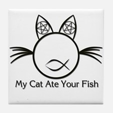 My Cat Ate Your Fish Tile Coaster