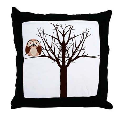 Riyah-Li Designs Winter Owl Throw Pillow