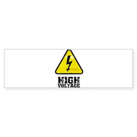 High voltage Bumper Sticker