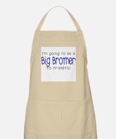 Big Brother to Triplets BBQ Apron