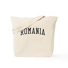 Romania Black Tote Bag