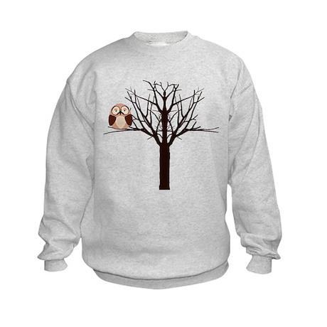 Riyah-Li Designs Winter Owl Kids Sweatshirt