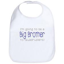 Big Brother to Quadruplets Bib