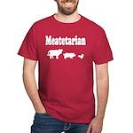 Meatetarian White/Cardinal T-Shirt