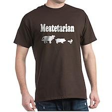 Meatetarian Brown T-Shirt