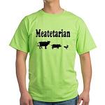 Meatetarian Black/Green T-Shirt