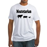 Meatetarian Black/White Fitted T-Shirt