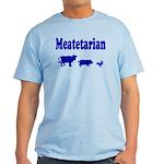 Meatetarian Blue on Tarheel Blue T-Shirt