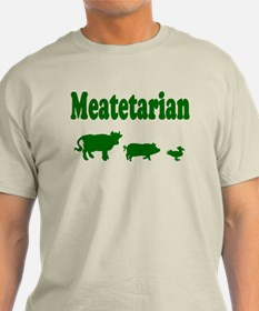 Meatetarian Green on Natural T-Shirt