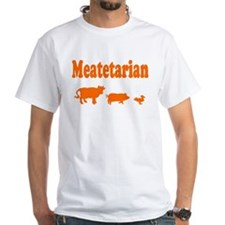 Meatetarian Orange on Shirt