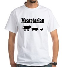 Meatetarian Black on Shirt