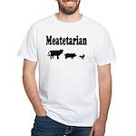 Meatetarian Black on White T-Shirt