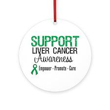 Support LiverCancerAwareness Ornament (Round)