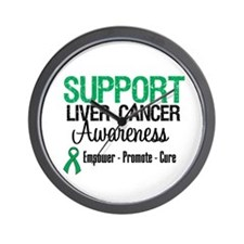 Support LiverCancerAwareness Wall Clock