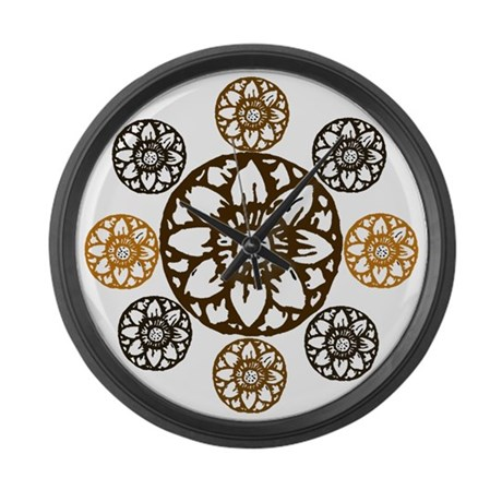 Lotus Bloom - Large Wall Clock