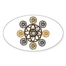 Lotus Bloom - Oval Decal