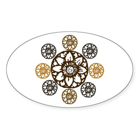 Lotus Bloom - Oval Sticker
